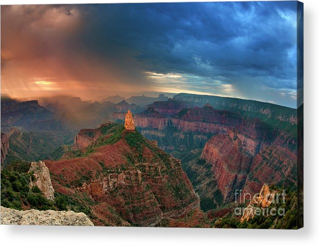 North America Acrylic Print featuring the photograph 749220321 North Rim Grand Canyon Arizona by Dave Welling