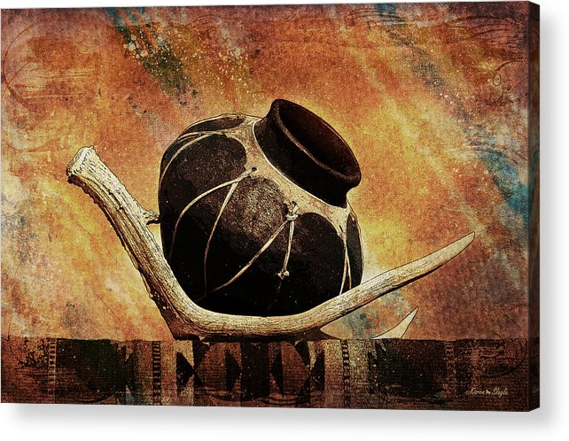 Antler Acrylic Print featuring the photograph Antler And Olla by Karen Slagle
