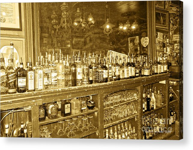 Genoa Bar Acrylic Print featuring the photograph Genoa Bar Oldest Saloon In Nevada's Old West History by Artist and Photographer Laura Wrede