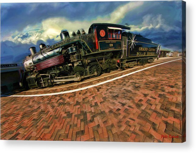 Grand Canyon 29 Railway Acrylic Print featuring the photograph Grand Canyon 29 Railway by Blake Richards