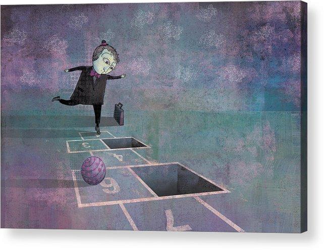 Dennis Wunsch Acrylic Print featuring the digital art Hopscotch2 by Dennis Wunsch