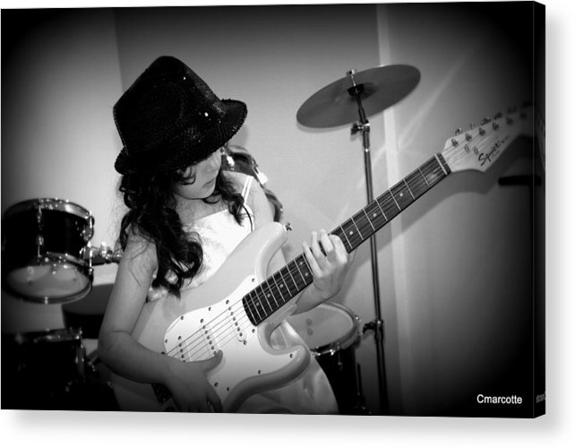 Acrylic Print featuring the photograph Lil Rocker by Cindy Marcotte