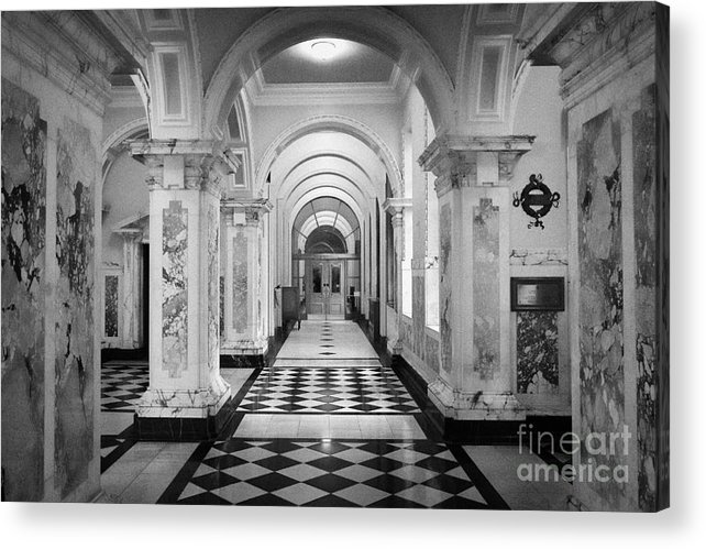 Summer Acrylic Print featuring the photograph Side Hall Off The Main Entrance Belfast City Hall Built In 1906 County Antrim Northern Ireland by Joe Fox