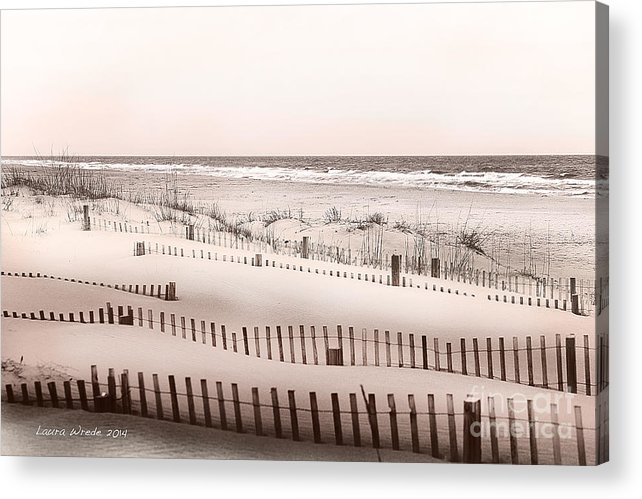 Virgina Beach Vacation Memories Acrylic Print featuring the photograph Virgina Beach Vacation Memories by Artist and Photographer Laura Wrede