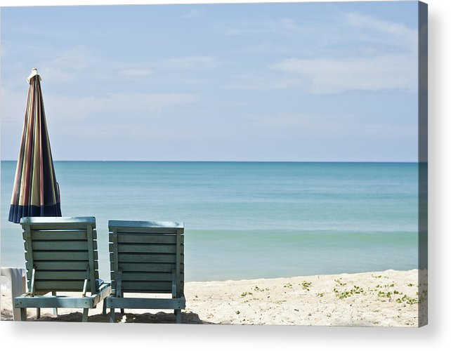Azure Acrylic Print featuring the photograph Beach Life by Georgia Fowler