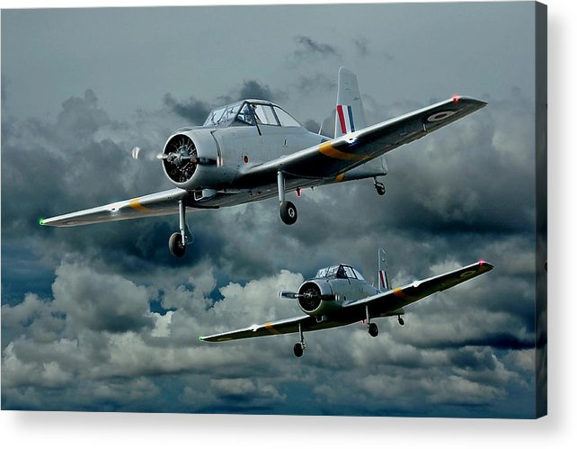 Planes Acrylic Print featuring the photograph Flight Of The Winjeels by Steven Agius
