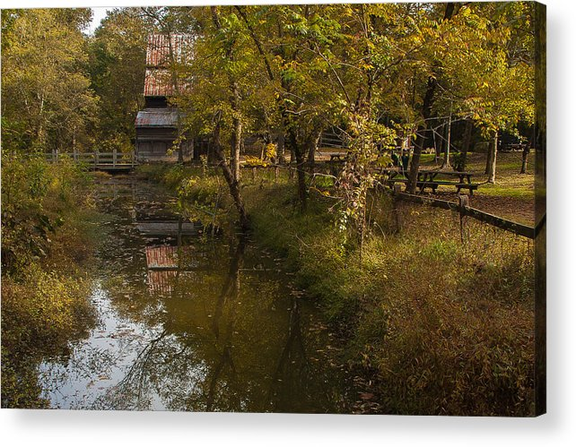 Gris Mill Acrylic Print featuring the photograph Gris Mill by Gene Hilton