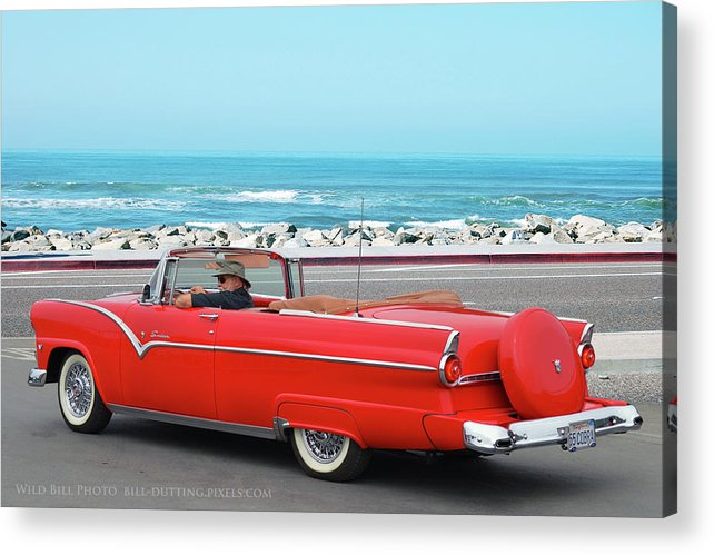Ford Acrylic Print featuring the photograph 55 Sunliner by Bill Dutting