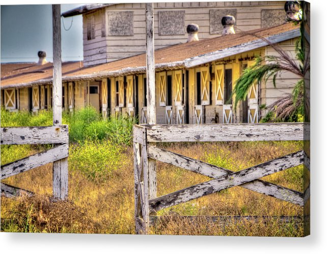 2011 Acrylic Print featuring the photograph Abandoned Horse Stables by Connie Cooper-Edwards