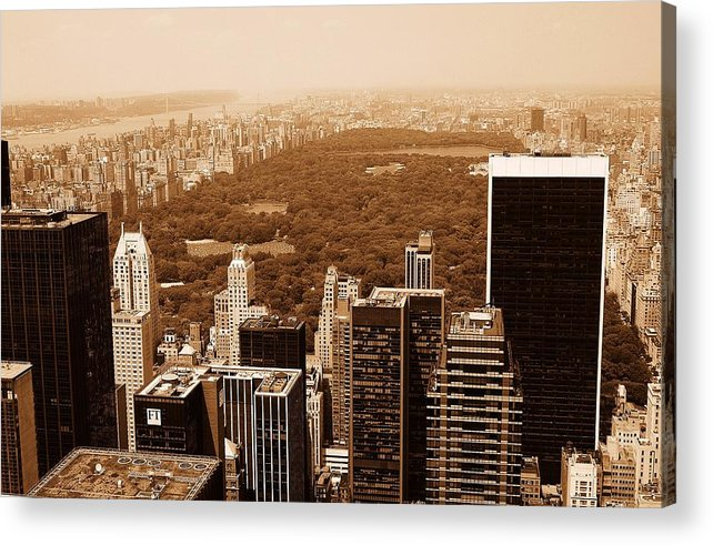 Central Park Acrylic Print featuring the photograph Aerial View Central Park by Allan Einhorn