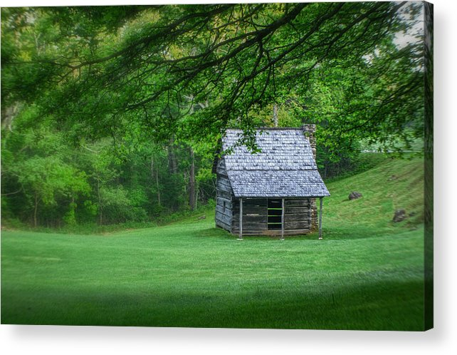 Landscape Acrylic Print featuring the photograph Cabin On The Blue Ridge Parkway - 1 by Joye Ardyn Durham