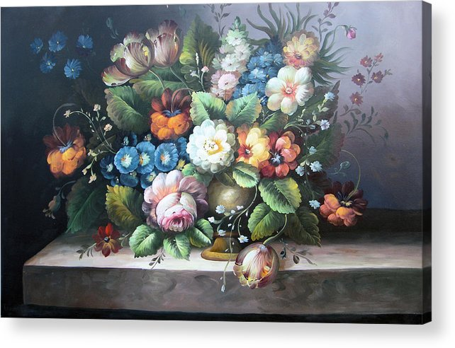 Still Life Acrylic Print featuring the painting Classic Style by Imagine Art Works Studio