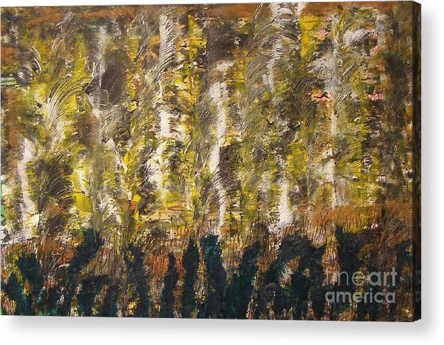 Abstract Acrylic Print featuring the painting Critters by Don Phillips
