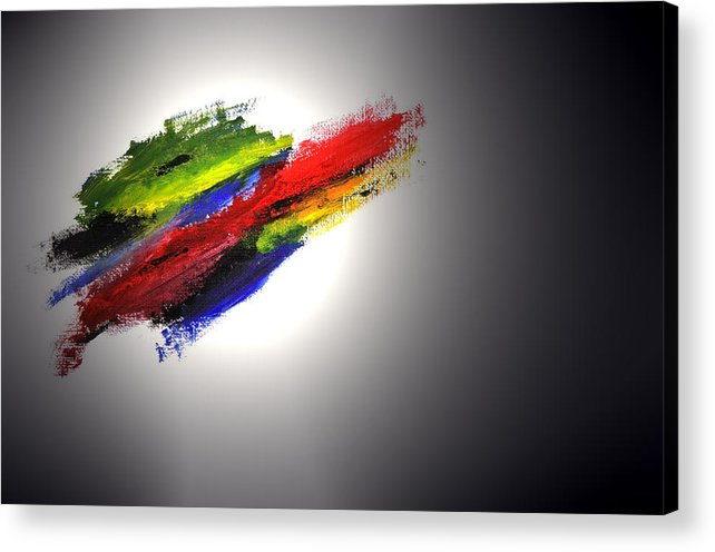 Abstract Acrylic Print featuring the painting Free Form by Adam Wells