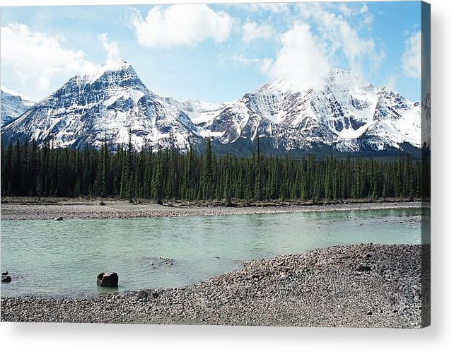 Landscape Acrylic Print featuring the photograph Mountain And Stone by Caroline Clark