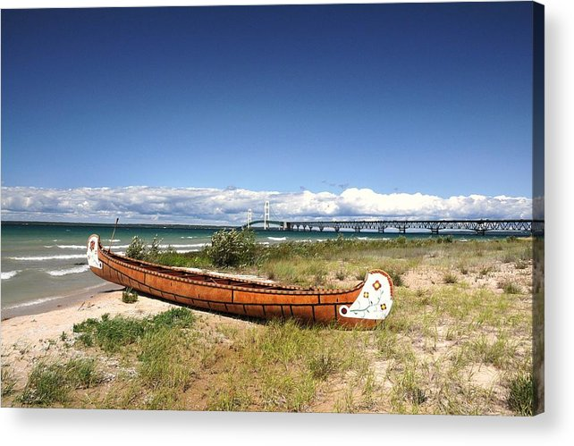 Canoe Acrylic Print featuring the photograph Past And Present by G Teysen