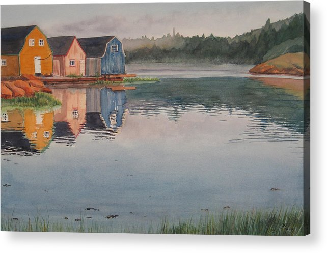 Pei Acrylic Print featuring the painting P.e.i. Morning by Debbie Homewood