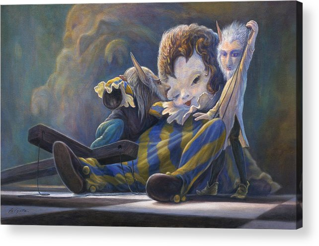 Leonard Filgate Acrylic Print featuring the painting The Marionette by Leonard Filgate