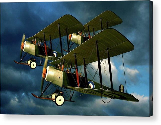 Bi Planes Acrylic Print featuring the photograph Up In The Air by Steven Agius