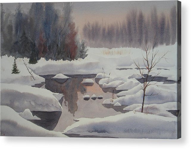Winter Acrylic Print featuring the painting Winter Magic by Debbie Homewood
