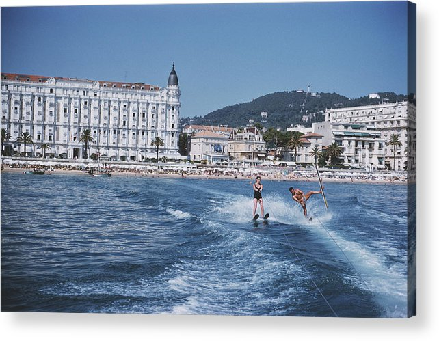People Acrylic Print featuring the photograph Cannes Watersports by Slim Aarons