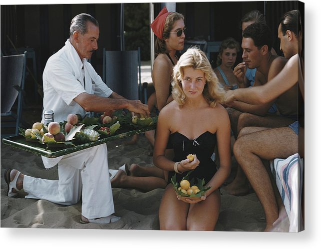 People Acrylic Print featuring the photograph Lido Life by Slim Aarons