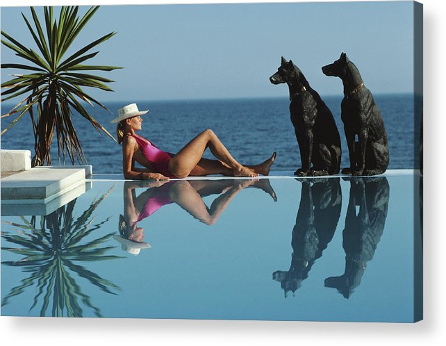 1980-1989 Acrylic Print featuring the photograph Pantz Pool by Slim Aarons