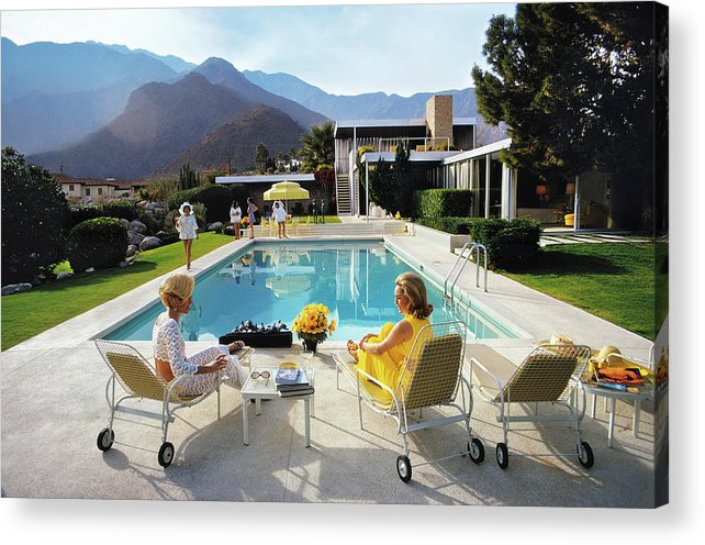 People Acrylic Print featuring the photograph Poolside Glamour by Slim Aarons
