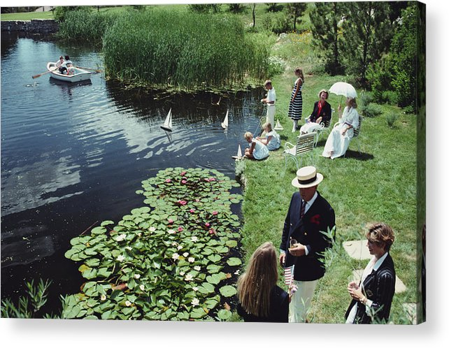 Straw Hat Acrylic Print featuring the photograph Summer Picnic by Slim Aarons