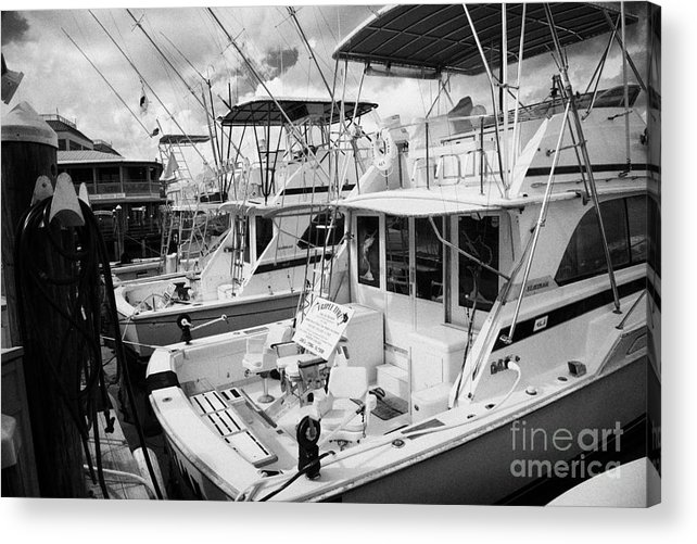Charter Acrylic Print featuring the photograph Charter Fishing Boats In The Old Seaport Of Key West Florida Usa by Joe Fox