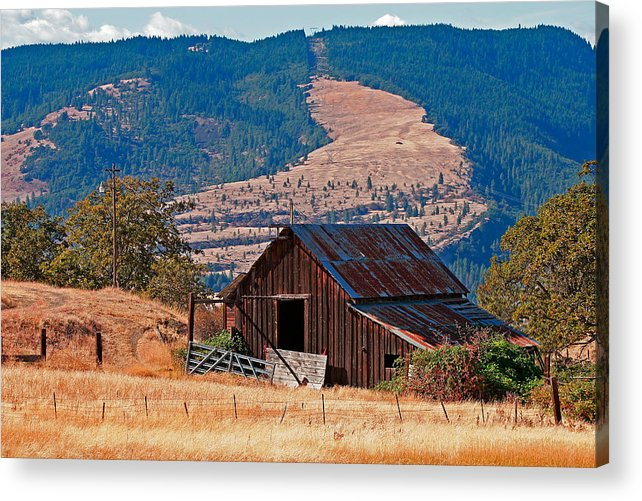 Barn Acrylic Print featuring the photograph Columbia River Barn by Peter Tellone
