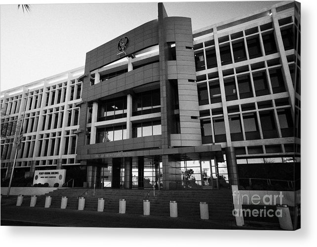 Foley Acrylic Print featuring the photograph foley federal building united states courthouse Las Vegas Nevada USA by Joe Fox