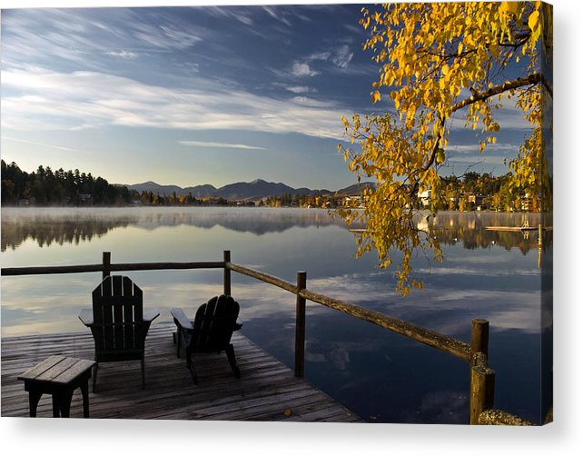 Adirondacks Acrylic Print featuring the photograph Mirror Lake  by Steve Auger
