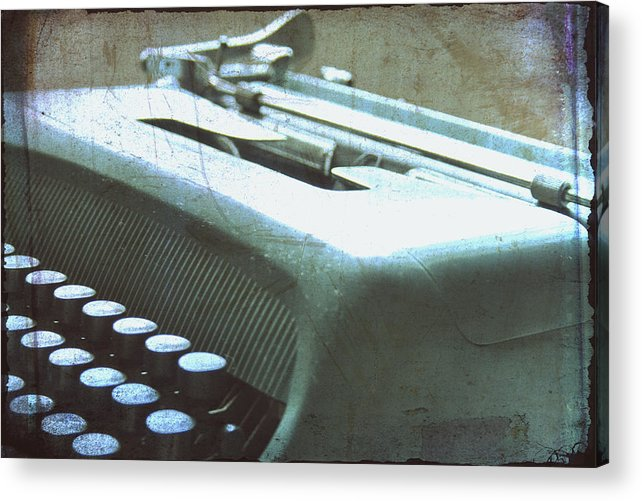 Olivetti Typewriter Acrylic Print featuring the photograph 1952 Olivetti Typewriter by Georgia Fowler