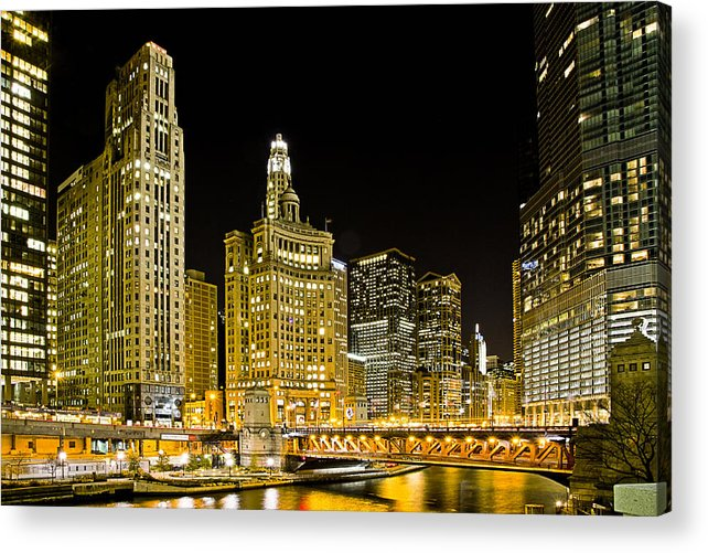 Michigan Ave Acrylic Print featuring the photograph Golden City by Matthew Puchyr