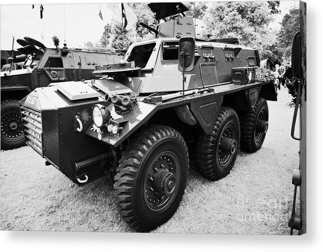 Alvis Saracen Vintage British Army Military Vehicles On Display County Down  Northern Ireland Uk Acrylic Print