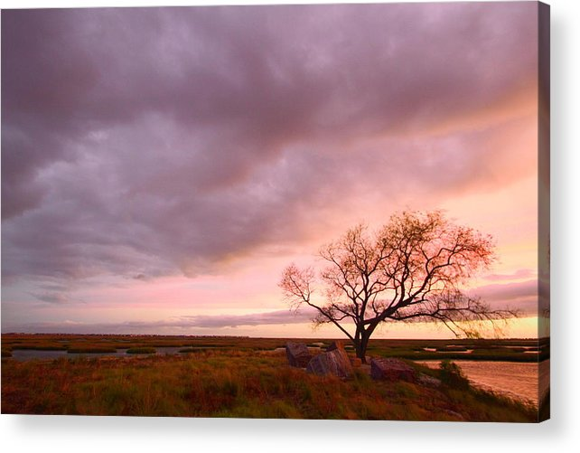 Galveston Acrylic Print featuring the photograph Storm At Dusk 2am-108346 by Andrew McInnes