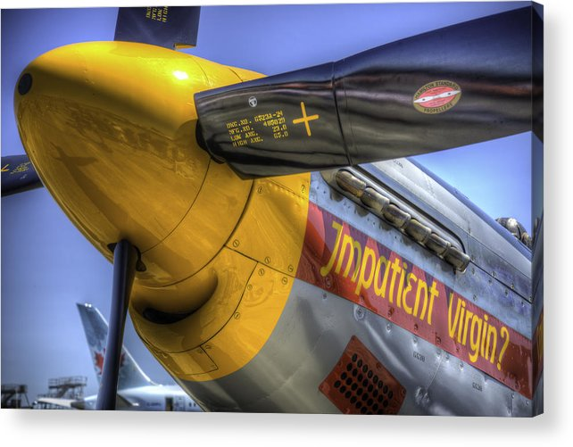 P51 Acrylic Print featuring the photograph P-51 Impatient Virgin by Spencer McDonald