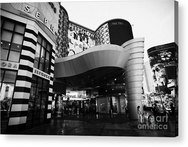 Planet Acrylic Print featuring the photograph planet hollywood casino Las Vegas Nevada USA by Joe Fox
