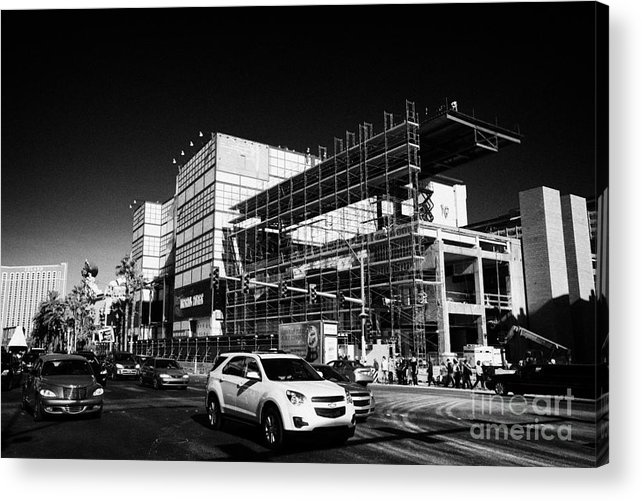 Redevelopment Acrylic Print featuring the photograph redevelopment of the imperial palace casino Las Vegas Nevada USA by Joe Fox