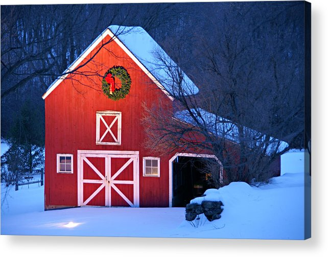 Holiday Greetings Acrylic Print featuring the photograph Seasons Greetings by Thomas Schoeller