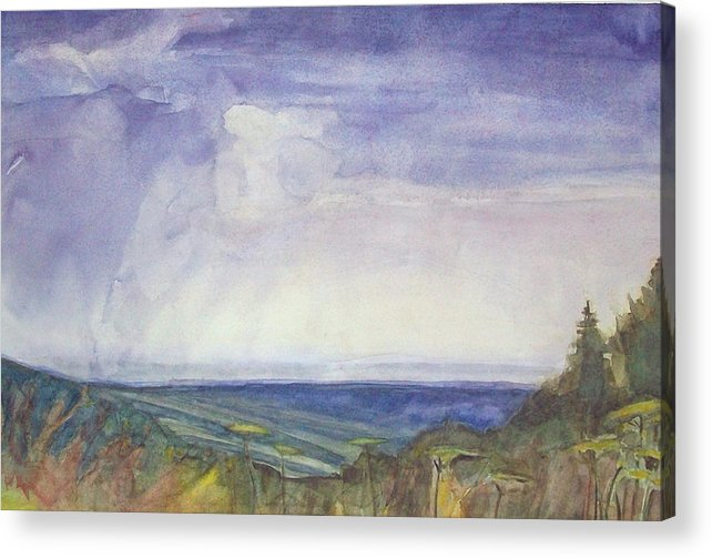 Summer Storm Acrylic Print featuring the painting Storm Heaves - Hog Hill by Grace Keown