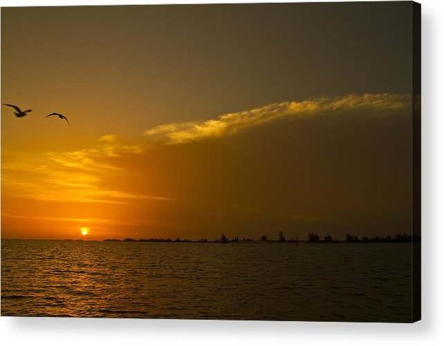 Sunset Acrylic Print featuring the photograph Sunset In Paradise by Matthew Barton
