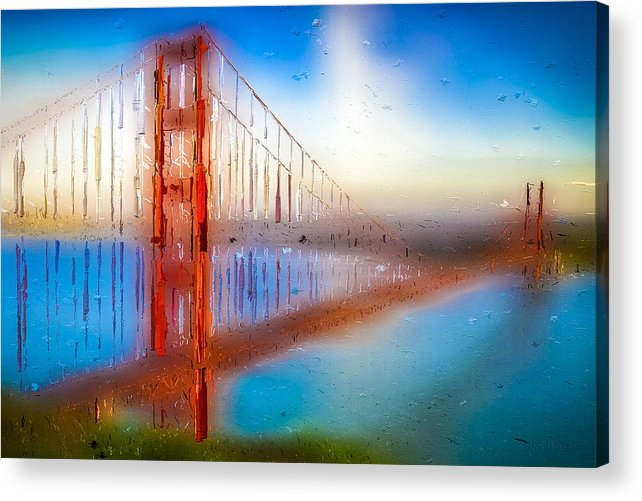Acrylic Print featuring the digital art The Gate 009 by Marcelo Alexandre