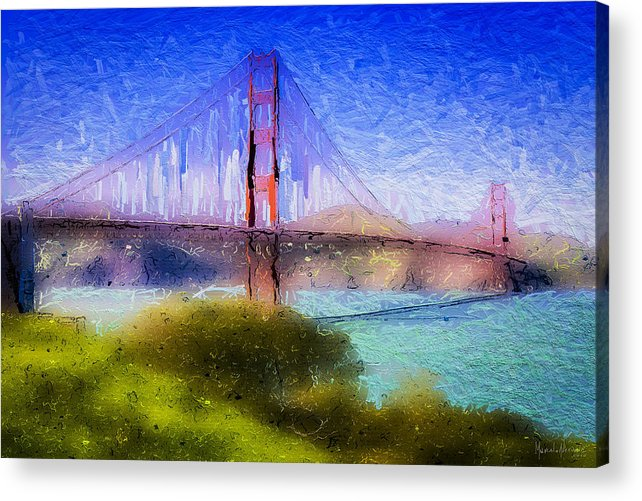 Acrylic Print featuring the digital art The Gate 021 by Marcelo Alexandre