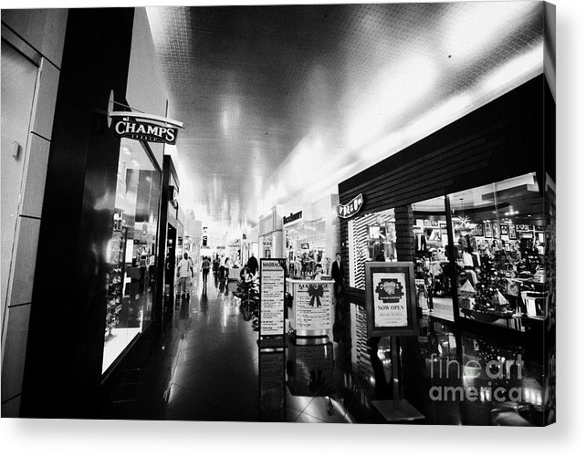 Miracle Acrylic Print featuring the photograph the miracle mile shops at planet hollywood casino Las Vegas Nevada USA by Joe Fox