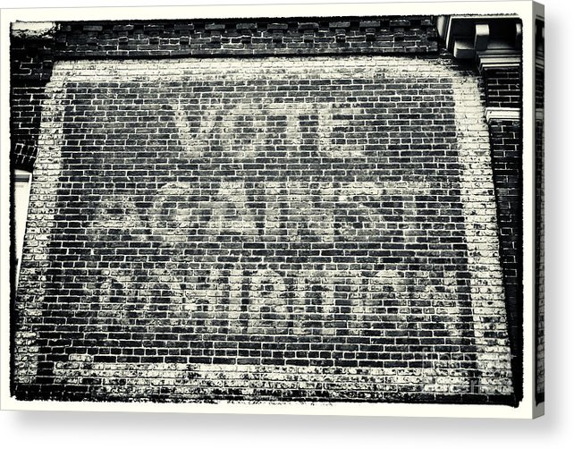 Vote Against Prohibition Acrylic Print featuring the photograph Vote Against Prohibition Iv by John Rizzuto