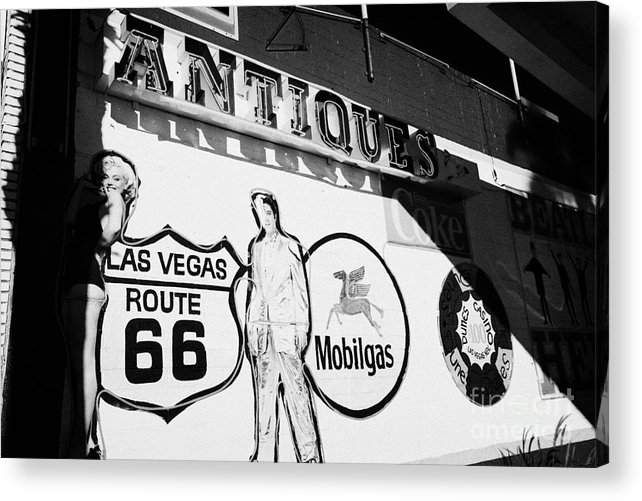 Wall Acrylic Print featuring the photograph wall mural in Las Vegas Nevada USA by Joe Fox