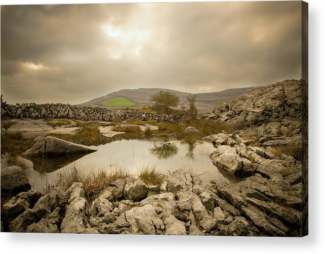 Theburren Acrylic Print featuring the photograph Burren Lake by Patrick Galvin