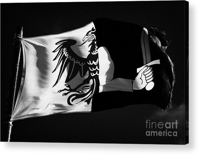 Republic Acrylic Print featuring the photograph Connacht Provincial Flag Flying In Republic Of Ireland by Joe Fox
